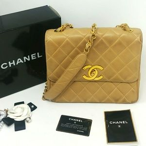 Rare Auth CHANEL Jumbo CC 2.55 Classic Flap Bag